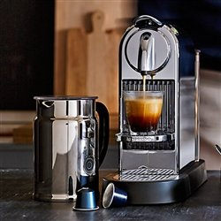 Nespresso Citiz C111 Espresso Maker with Aeroccino Plus Milk Frother, Chrome from Nespresso