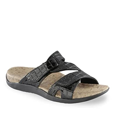 Womens Orthaheel Holly Sandal (7, Black)