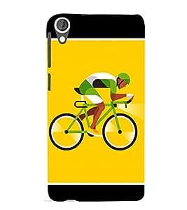 Cyclist 3D Hard Polycarbonate Designer Back Case Cover for HTC Desire 820 :: HTC Desire 820 Dual Sim :: HTC Desire 820S Dual Sim :: HTC Desire 820q Dual Sim :: HTC Desire 820G+ Dual Sim