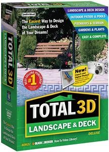 Popular Individual Software Inc Total 3d Landscape And Deck Deluxe Color-Coded Floor Plan Sm Box
