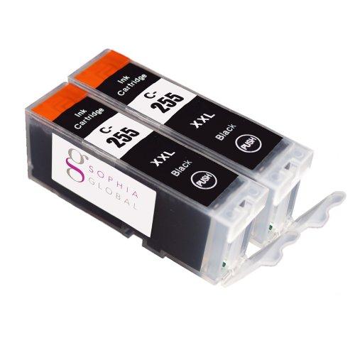 Sophia Global Compatible Ink Cartridge Replacement for PGI-255XXL (2 Black)