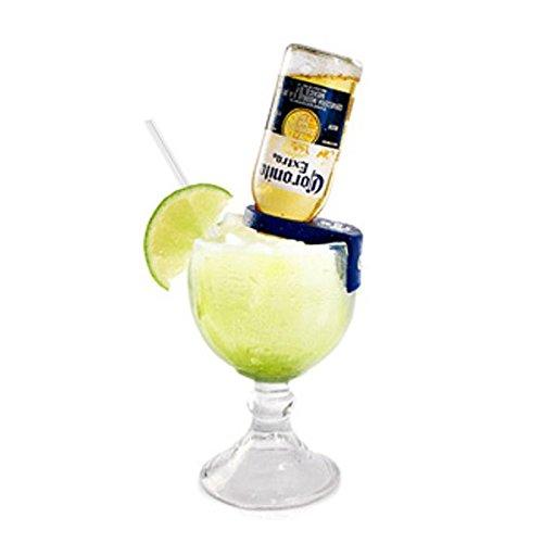 CoronaRita Blue Drink Clips - For Schooner & Goblet Glasses - Pack of 4 (Margarita Goblet Glass compare prices)