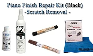Piano Finish Repair - Piano Scratch Repair - Scratch Removal Kit Black (Ebony)- Furniture Touch up