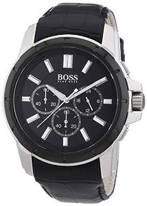 Hugo Boss Herren-Armbanduhr XL Analog Quarz Leder 1512926