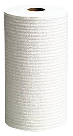 "Kimberly-Clark WypAll 35421 Disposable X60 Wiper, 13.4"" Width x 19.6"" Length, White (6 Rolls of 130)"