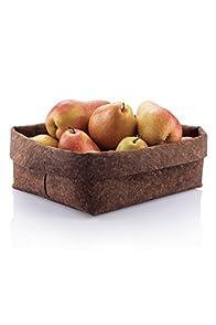 Bambu Home Adjust-a-Bowl Rectangular Soft Cork Bowl (Dark Brown)
