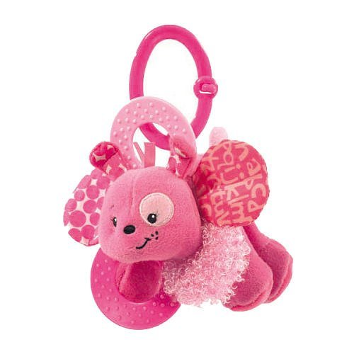 Infantino Peek-A-Boo Rattles - Pink (Colors/Styles Vary) - 1