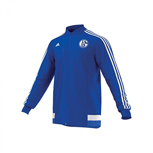 Adidas Herren Jacke FC Schalke 04 Anthem, boblue/white, XS, AA1649