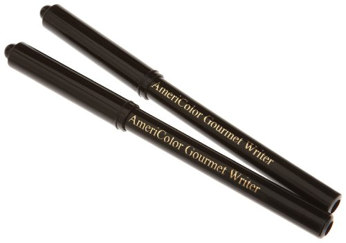 AmeriColor 2 Pack Gourmet Food Writer Set, Black Marker