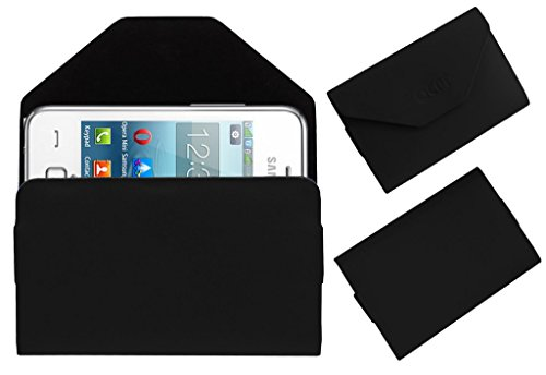Acm Premium Pouch Case For Samsung Rex 80 S5222r S5222 Flip Flap Cover Holder Black  available at amazon for Rs.179