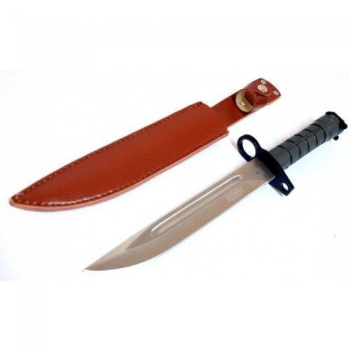 "13.5"" Defender Xtreme M9 Bayonet Combat Knife Green Handle With Vinyl Sheath"