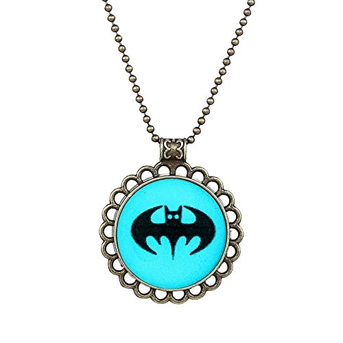 Winter's Secret Restoring Ancient Style Creative Luminous Brave Batman Necklace