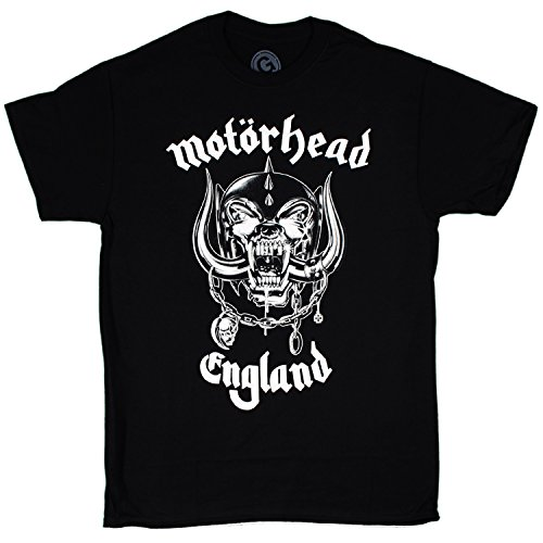 Motorhead - England Logo 1 Sided t-shirt , Size: Medium, Color: Black (Tshirt Motorhead compare prices)