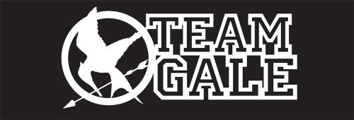 Hunger Games Team Gale Mocking Jay Sticker Decal. White