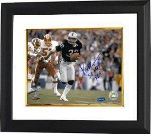 Marcus Allen Autographed Photo - SB XVIII 8x10 SB XVIII MVP Custom Framed - Autographed NFL Photos