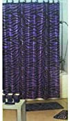 4pcs Bath Rug Set Zebra Purple Print Bathroom Rug Shower