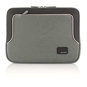 "Belkin EVO Carrying Case (Sleeve) for 14"" Notebook - Gray, Pink - Neoprene"