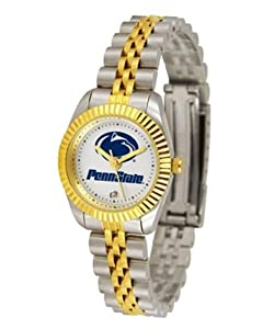 Penn State Nittany Lions NCAA Ladies 23Kt Gold Watch by SunTime