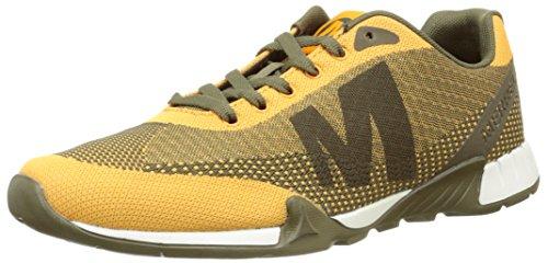 MerrellVersent - Sneakers Uomo, Multicolore (Verde/Giallo), 43