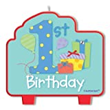 One Special Boy Flat Moulded Birthday Candle, 8.9cmby Party Bags 2 Go