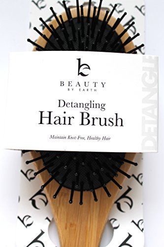 Detangling Brush - Wooden Paddle & Best Detangler All Hair Types (Thin, Fine, Thick, Wet, Natural, Curly) to Detangle and Style - Natural Healthy Locks Without Knots or Tangles - For Kids, Men & Women (Hair Brush For Curly Hair compare prices)