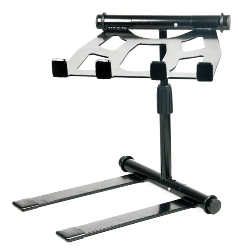 Pyle PLPTS55 - Portable, Folding Tabletop DJ Gear Stand for Laptop Mixer or Other Gear - Adjustable Angle and Height (Dj Turntable Mac compare prices)