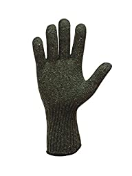 RefrigiWear Wool Glove Liner Green Large/XL, Pack of 12