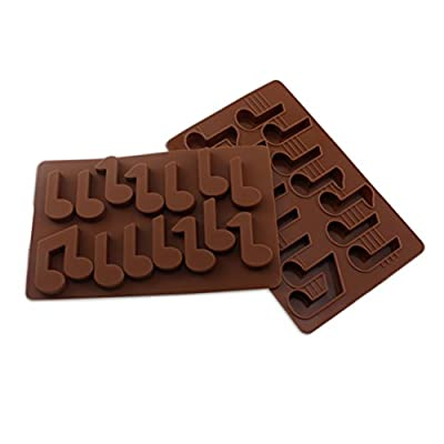 Candy Making Molds, 2PCS YYP [14 Cavity Musical Note Shape Mold] Silicone Candy Molds for Home Baking - Reusable Silicone DIY Baking Molds for Candy, Chocolate or More, Set of 2