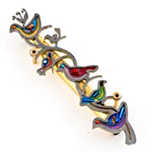 Seeka Colorful Doves of Peace Mezuzah from The Artazia Collection M0805