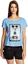 Disney by Genes Women's Body Blouse Shirt (CHD15-021KTBLO_Bleach Denim_Small)