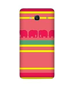 Stripes And Elephant Print (7) Xiaomi Redmi 2S Case
