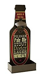 Beer Shaped Pale Ale Brewed in the USA Wall Mounted Bottle Opener