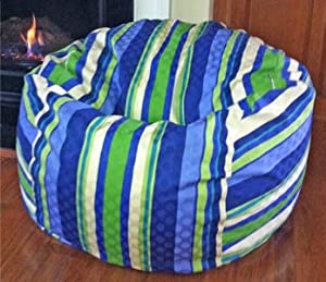 Marina Stripes Acrylic Washable Large Bean Bag Chair - FREE SHIPPING! from AHH! Products