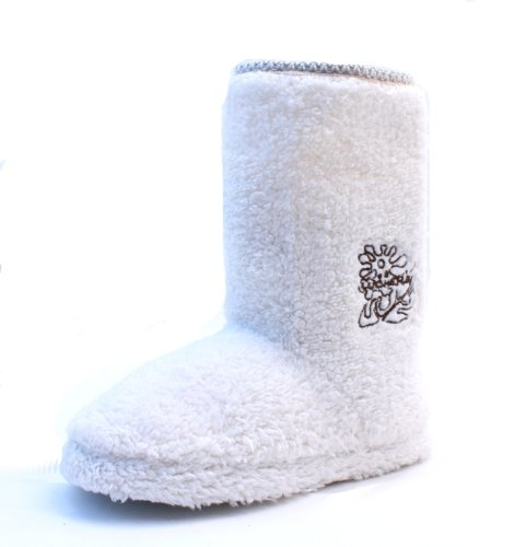 Cheap Luckers Women's White Fuzzy Bootie Slippers (B008RBX1FU)