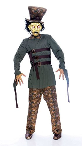 Papermagic Mens Mad Hatter Wicked Wonderland Storybook Scary Horror Costume