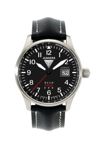 Junkers 66502 - Orologio da polso uomo, pelle, colore: nero