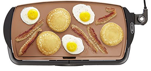 BELLA 10.5 x 20 Inch Copper Titanium Coated Electric Non-Stick Griddle, 1500 Watts 14606 (Bella Griddle compare prices)