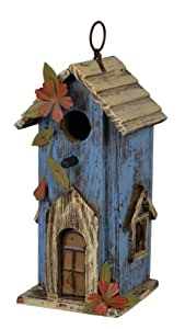 Carson Home Accents Blue School Birdhouse, 12-Inch