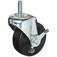 E.R. Wagner Stem Caster, Swivel with Pinch Brake, Soft Rubber Wheel