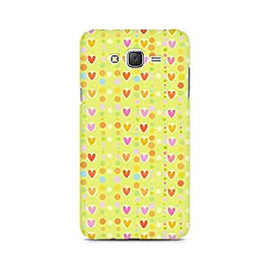Ebby Cute Colorful Hearts Premium Printed Case For Samsung J1