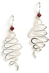 Jody Coyote Earrings WB434SP-01 Pirouette Collection silver twist