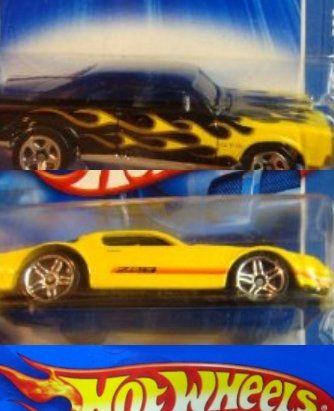 Hot Wheels 2nd Generation Chevy Camaro Z28 Pr5 - '67 Pontiac gTo Black With Flames 5 Spoke Scale 1:64 (Camaro Generations compare prices)