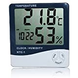 LCD Digital Thermometer for temperature and humidity, with clock and alarm [version:x7.6] by DELIAWINTERFEL