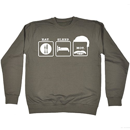 123t Eat Sleep Mot ... Moustache Design - SWEATSHIRT