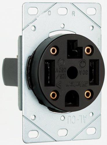 Pass & Seymour 3864CC6 Flush Outlet 30-Amp 125-volt/250-volt Three Pole Four Wire