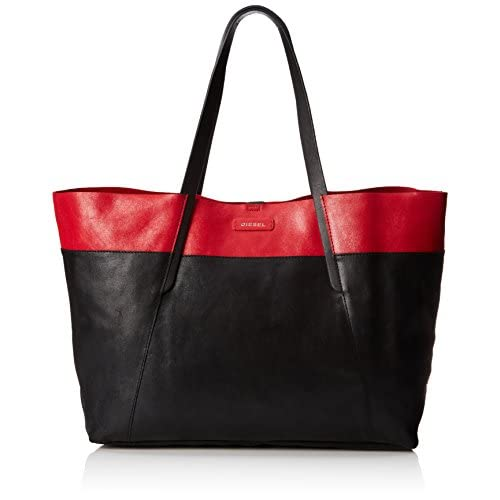 [ディーゼル] DIESEL レディース トートバッグ BE-EASYMALLORY - shoulder bag X02694PR6940072UNI PR694H4072 (ブラック/)