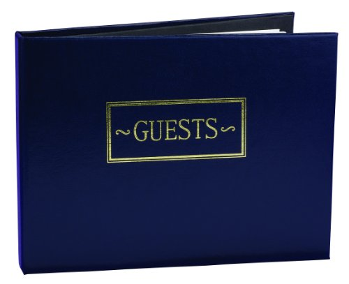 Hortense B. Hewitt Wedding Accessories Guest Book, Navy, 7.5-Inches x 5.75-Inches