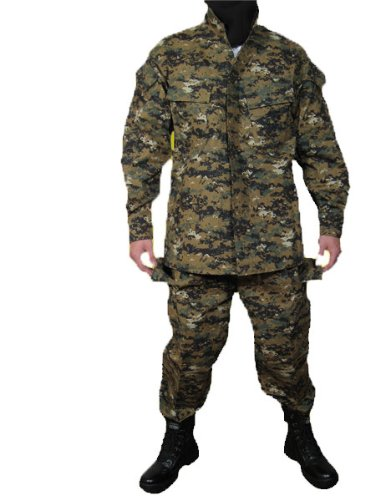 マーパットウッドランド ピクセルグリーン  迷彩柄 BDU 迷彩服 上下セット サイズL