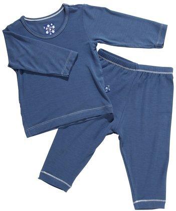 Kickee Pants Long Sleeved Pajama Set, Twilight, -3 Months front-196873
