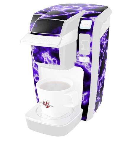 Electrify Purple - Decal Style Vinyl Skin fits Keurig K10 Mini Plus Coffee Makers (KEURIG NOT INCLUDED)
